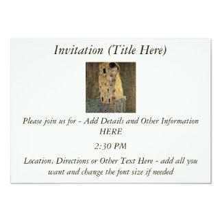El beso de Gustavo Klimt (circa 1908) Invitación 11,4 X 15,8 Cm
