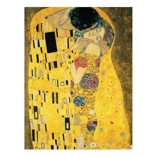 El beso de Gustavo Klimt Postal