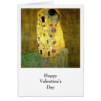 El beso de Gustavo Klimt Tarjeta