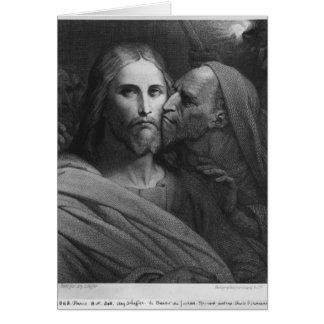 El beso de Judas 2 Tarjeta De Felicitación