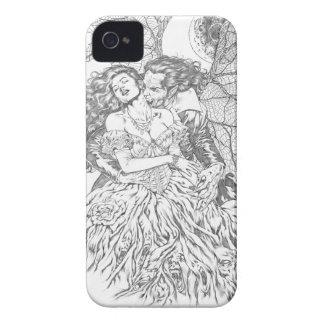 El beso del vampiro por el Al Río - arte del Carcasa Para iPhone 4