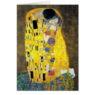 El beso, Gustavo Klimt Tarjeta