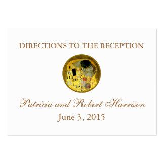 El beso Klimt que casa direcciones de la recepción Plantilla De Tarjeta De Visita