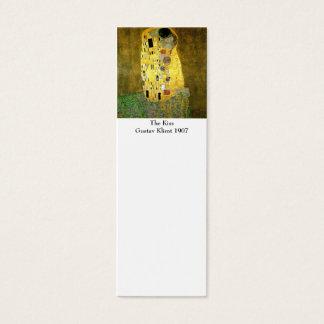 El beso por la señal de Gustavo Klimt Tarjeta De Visita Pequeña