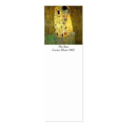 El beso por la señal de Gustavo Klimt Plantillas De Tarjetas De Visita