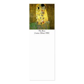 El beso por la señal de Gustavo Klimt Tarjetas De Visita Mini
