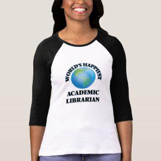 El bibliotecario académico más feliz del mundo camisetas