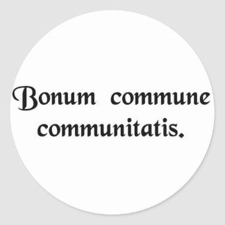 El bien común de la comunidad pegatinas redondas
