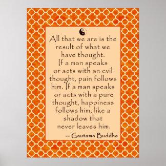 El bien y el mal de la cita de Buda…. en los poste Impresiones