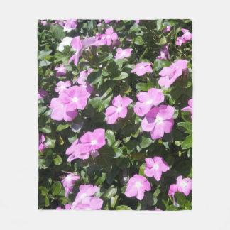 El bígaro rosado lindo florece la manta del paño