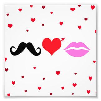El bigote ama los labios fotografía
