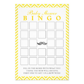 El bigote Chevron raya tarjetas del bingo de la fi Invitacion Personal