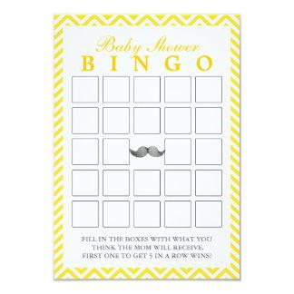 El bigote Chevron raya tarjetas del bingo de la Invitación 8,9 X 12,7 Cm