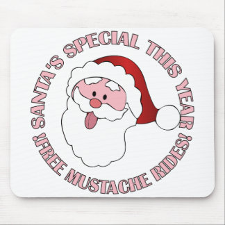El bigote de Santa monta el mousepad