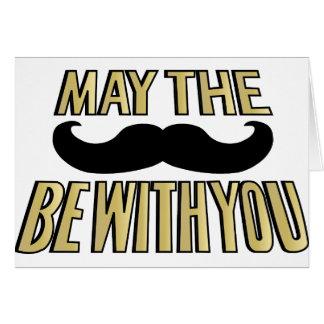 El bigote divertido mayo el stache esté con usted tarjeta de felicitación