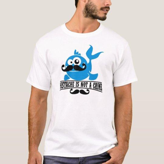 el bigote no es un crimen camiseta