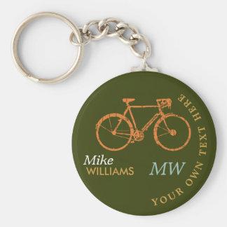 el biking, a.bike en llavero verdoso con nombre