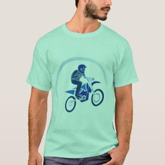 El Biking del vector del motorista de la suciedad Camiseta
