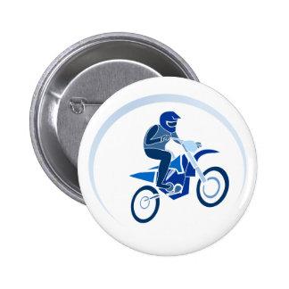El Biking del vector del motorista de la suciedad Pins