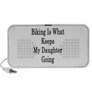 El Biking es qué guarda mi ir de la hija Altavoz De Viajar