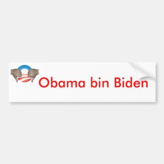El bin Biden de Obama manosea con los dedos abajo Pegatina Para Coche
