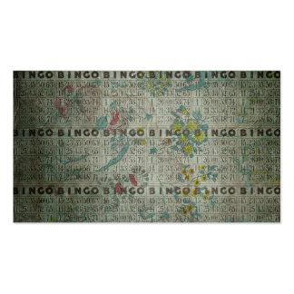 el bingo del vintage carda las flores tarjeta de visita