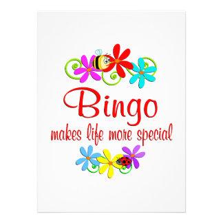 El bingo es especial comunicados personales