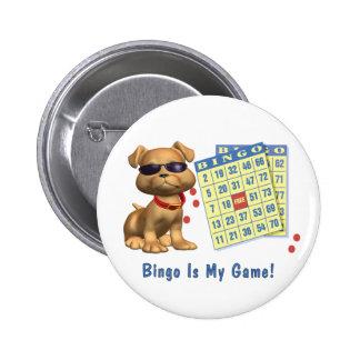 ¡El bingo es mi juego! Chapa Redonda De 5 Cm