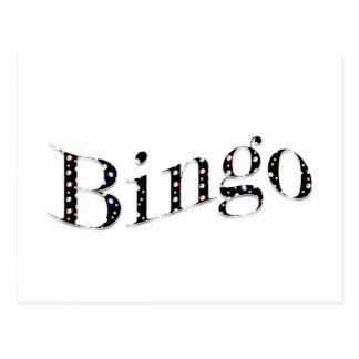 ¡El bingo es su juego! Postal