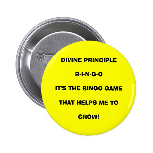 EL BINGO GAMETH DEL PRINCIPIO B-I-N-G-OIT DIVINO… PINS