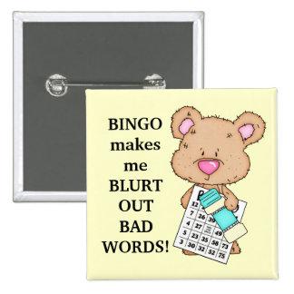 El bingo hace que abotona chapa cuadrada