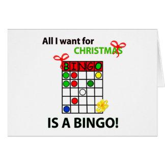 El BINGO I quiere un bingo para el navidad Felicitaciones