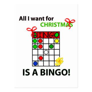 El BINGO I quiere un bingo para el navidad Postal