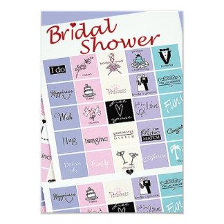 El bingo nupcial de la ducha invita invitación 8,9 x 12,7 cm
