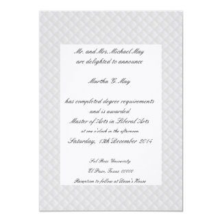 El blanco acolchó tarjetas confinadas cuero de la invitación 12,7 x 17,8 cm