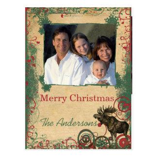 El blanco adorna la postal de la foto del navidad