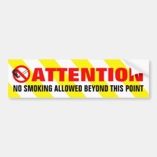 El blanco amarillo raya la advertencia de no pegatina para coche