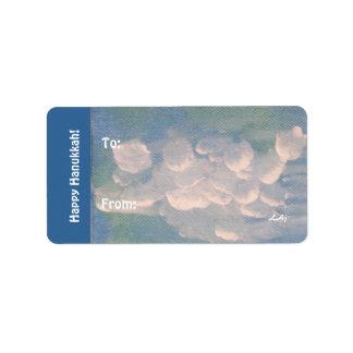El blanco azul de Jánuca se nubla a los pegatinas  Etiquetas De Dirección