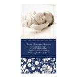 El blanco azul le agradece las tarjetas de la foto tarjeta fotografica personalizada