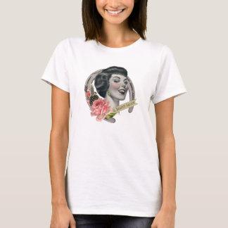 El blanco de la camiseta de la belleza de las