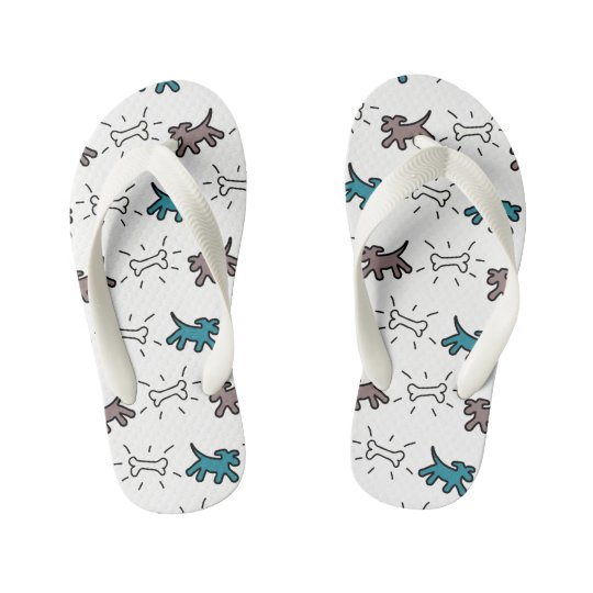 El blanco de los perros deshuesa el flip-flop 4 de chanclas para niños
