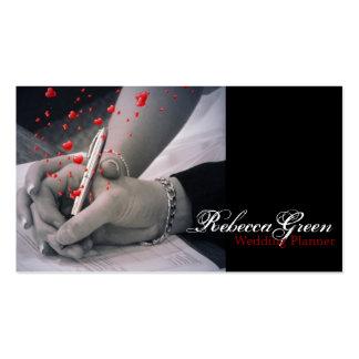 el blanco elegante del negro de los corazones da e tarjetas de visita