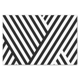 El blanco negro bonito raya el papel seda 10lb
