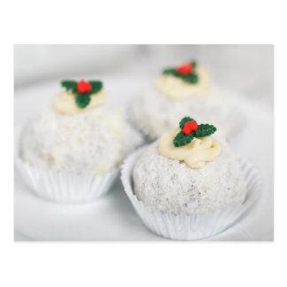 El blanco pulverizó las tortas del navidad tarjeta postal