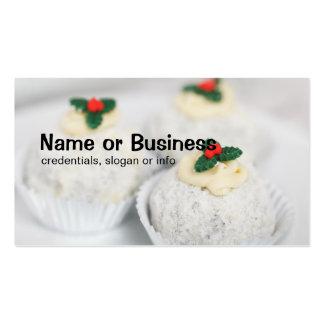 El blanco pulverizó las tortas del navidad tarjetas de visita