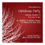 El blanco rojo de las invitaciones de la fiesta de invitación 13,3 cm x 13,3cm