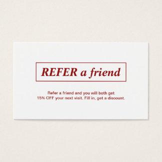 El blanco rojo elegante simple refiere una tarjeta