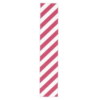 El blanco rojo raya el corredor ancho de la tabla camino de mesa mediano