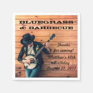 El Bluegrass y la barbacoa van de fiesta las Servilletas Desechables