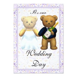 , El boda alto de los osos de peluche invita - a Invitación 12,7 X 17,8 Cm